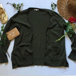 Madewell Forest Green Button-up Cardigan - S